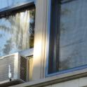 BMSB entry into homes may occur through older windows and window air conditioners (photo by Chuck Ingles).